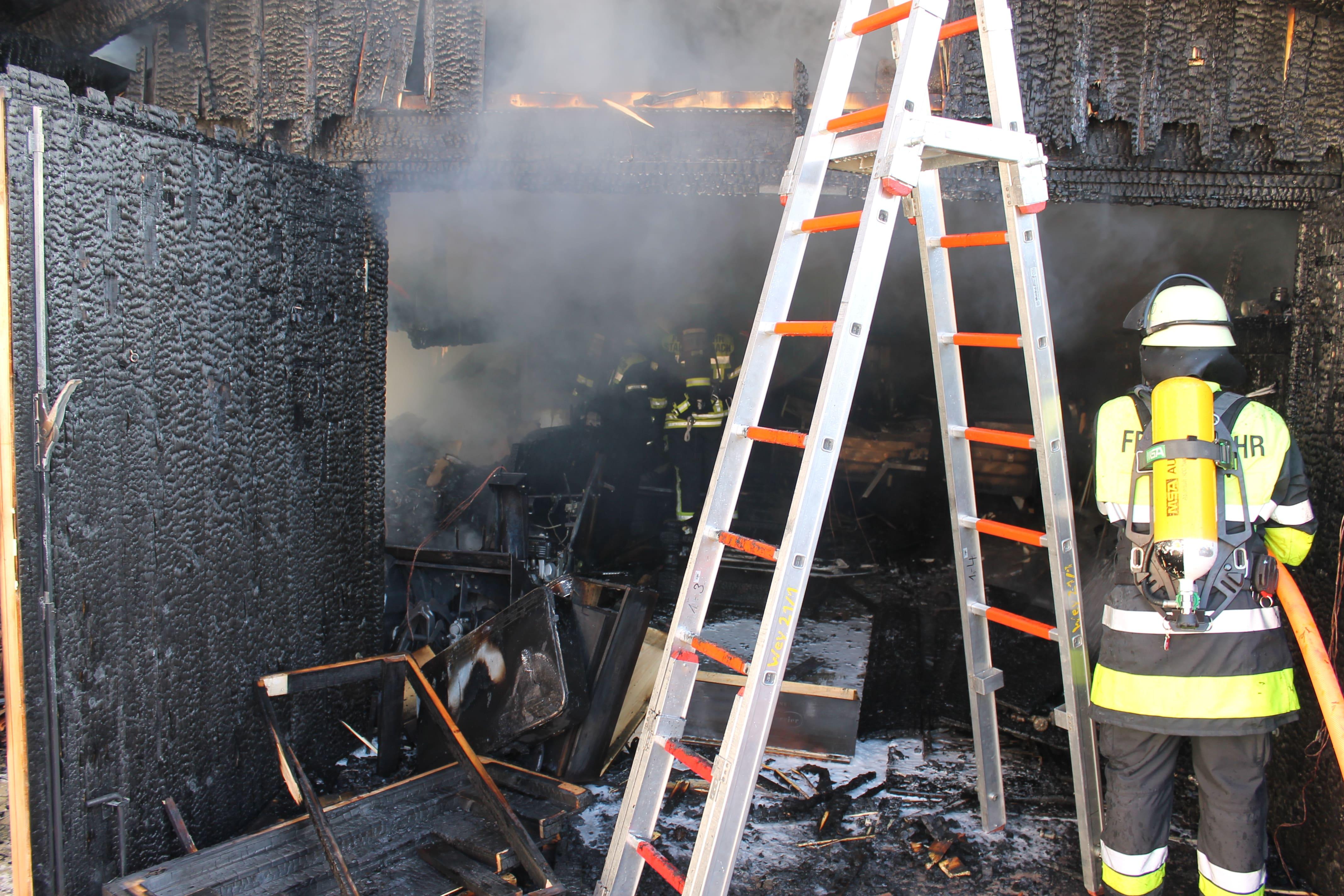Garagenbrand Großpienzenau