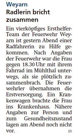 Pressbericht Miesbacher Merkur