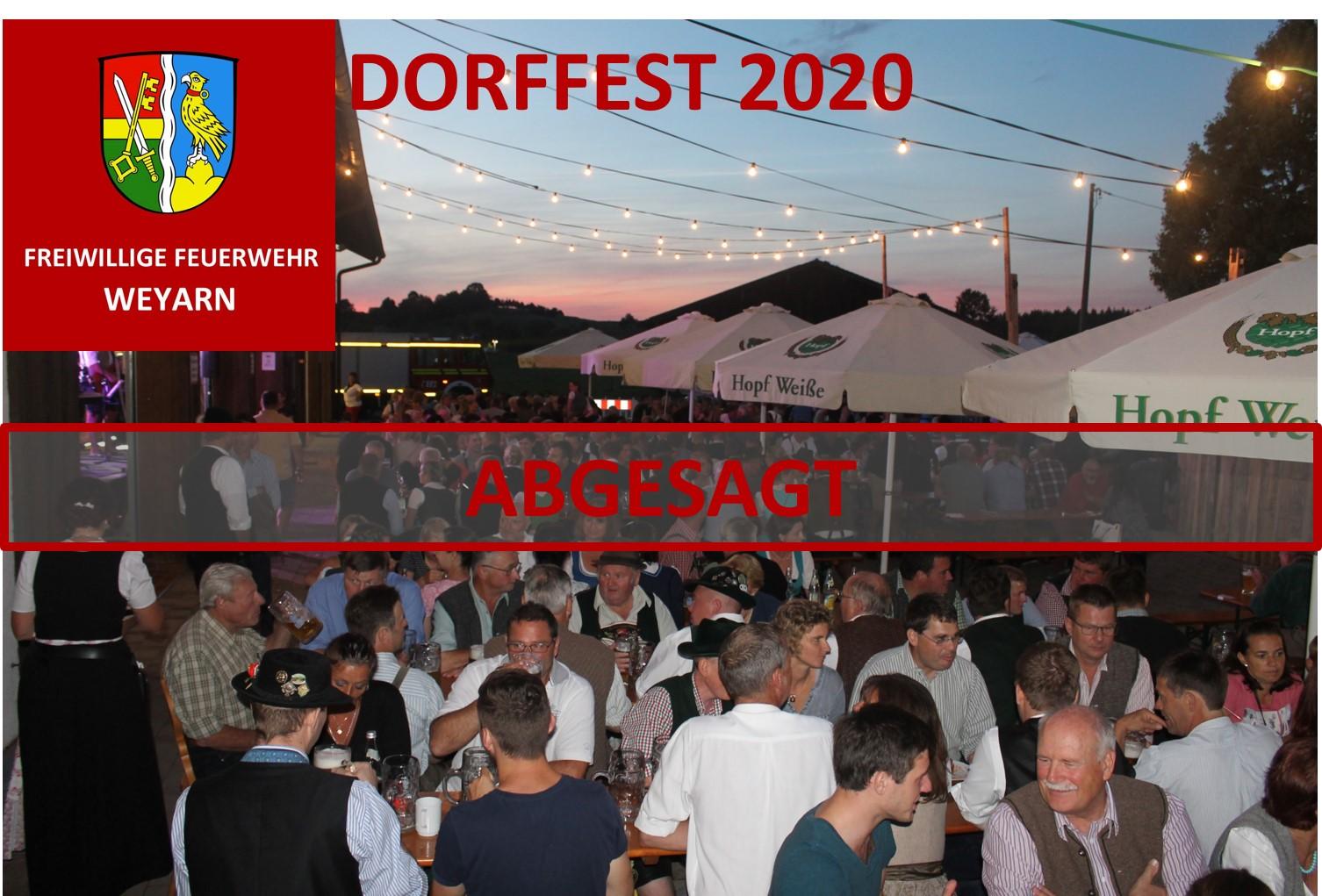 Dorffest 2020 abgesagt